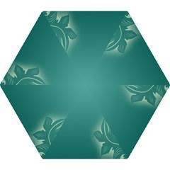 Leaf Green Blue Branch  Texture Thread Mini Folding Umbrellas by Alisyart