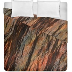 Texture Stone Rock Earth Duvet Cover Double Side (king Size) by Amaryn4rt