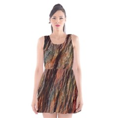 Texture Stone Rock Earth Scoop Neck Skater Dress by Amaryn4rt