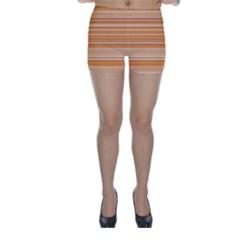 Line Brown Skinny Shorts by Alisyart