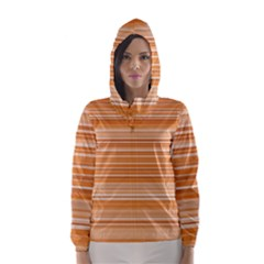 Line Brown Hooded Wind Breaker (women) by Alisyart