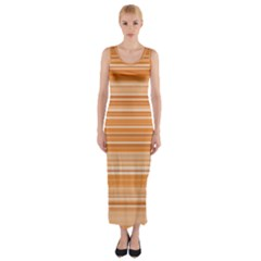 Line Brown Fitted Maxi Dress