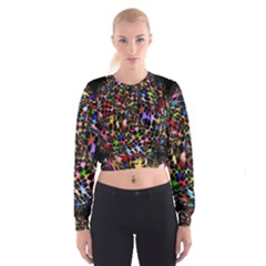 Network Integration Intertwined Women s Cropped Sweatshirt by Amaryn4rt