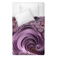 Purple Abstract Art Fractal Art Fractal Duvet Cover Double Side (single Size) by Amaryn4rt