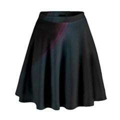 Lines Dark Sky Space Blue High Waist Skirt by Alisyart