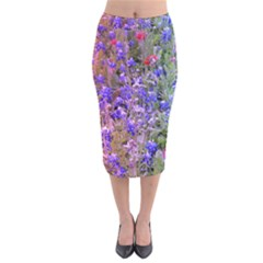 Spring Garden Velvet Midi Pencil Skirt by CreatedByMeVictoriaB