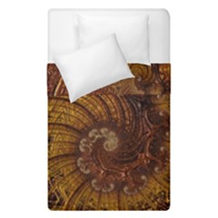 Copper Caramel Swirls Abstract Art Duvet Cover Double Side (single Size) by Amaryn4rt