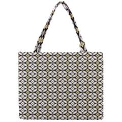 Flower Floral Chevrpn Wave Sunflower Rose Grey Yellow Mini Tote Bag by Alisyart