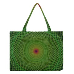 Green Fractal Simple Wire String Medium Tote Bag by Amaryn4rt