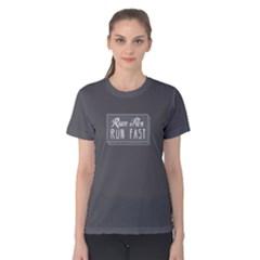 Run Far Run Fast   Women s Cotton Tee by FunnySaying