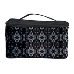 Med Gray Orchid Mandala Cosmetic Storage Case by lynngrayson