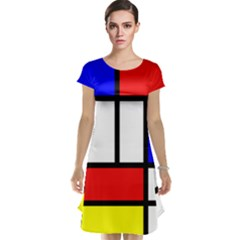 Mondrian Red Blue Yellow Cap Sleeve Nightdress