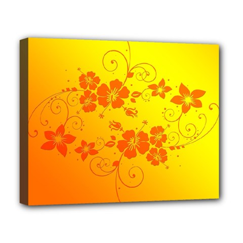 Flowers Floral Design Flora Yellow Deluxe Canvas 20  X 16   by Amaryn4rt