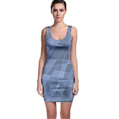 Lines Shapes Pattern Web Creative Sleeveless Bodycon Dress