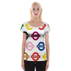 Underground Signs Tube Signs Women s Cap Sleeve Top by Amaryn4rt