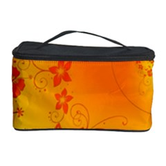 Flowers Floral Design Flora Yellow Cosmetic Storage Case by Amaryn4rt
