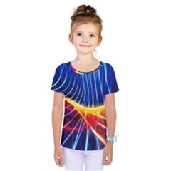 Color Colorful Wave Abstract Kids  One Piece Tee by Amaryn4rt