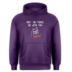 Purple May The Force Be With You  Men s Pullover Hoodie