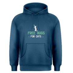 Blue Free Hugs For Cats  Men s Pullover Hoodie
