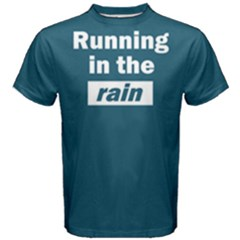Running In The Rain   Men s Cotton Tee by FunnySaying
