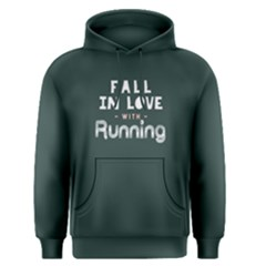 Fall in love with running - Men s Pullover Hoodie by FunnySaying