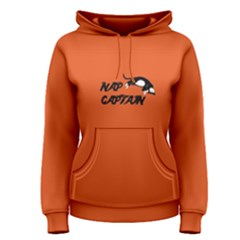 Orange Nap Captain Cat Women s Pullover Hoodie by FunnySaying