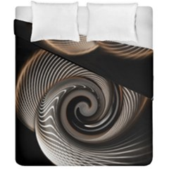 Abstract Background Curves Duvet Cover Double Side (california King Size) by Amaryn4rt