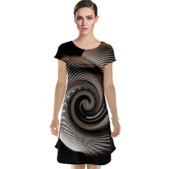 Abstract Background Curves Cap Sleeve Nightdress by Amaryn4rt