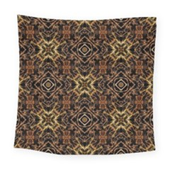 Tribal Geometric Print Square Tapestry (large) by dflcprints