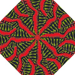African Fabric Red Green Straight Umbrellas by Alisyart