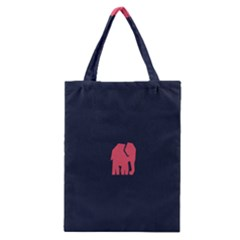 Animals Elephant Pink Blue Classic Tote Bag by Alisyart