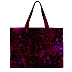 Retro Flower Pattern Design Batik Zipper Mini Tote Bag by Amaryn4rt