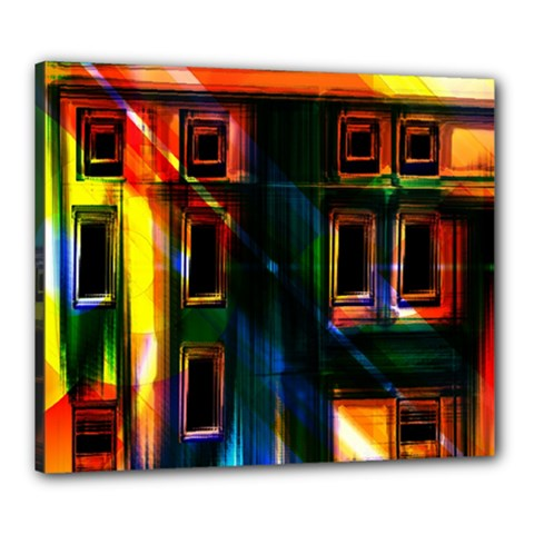Architecture City Homes Window Canvas 24  X 20