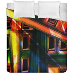 Architecture City Homes Window Duvet Cover Double Side (california King Size) by Amaryn4rt
