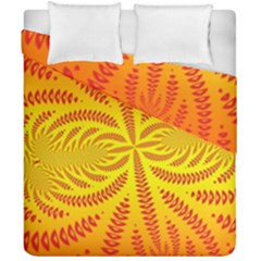 Background Brush Particles Wave Duvet Cover Double Side (california King Size) by Amaryn4rt