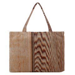 Wood Grain Texture Brown Medium Zipper Tote Bag by Amaryn4rt