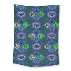 African Fabric Number Alphabeth Diamond Medium Tapestry by Alisyart