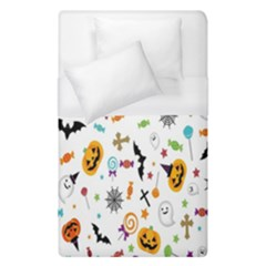 Candy Pumpkins Bat Helloween Star Hat Duvet Cover (single Size) by Alisyart