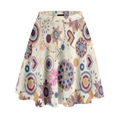 Flower Arrangements Season Floral Purple Love Heart High Waist Skirt by Alisyart