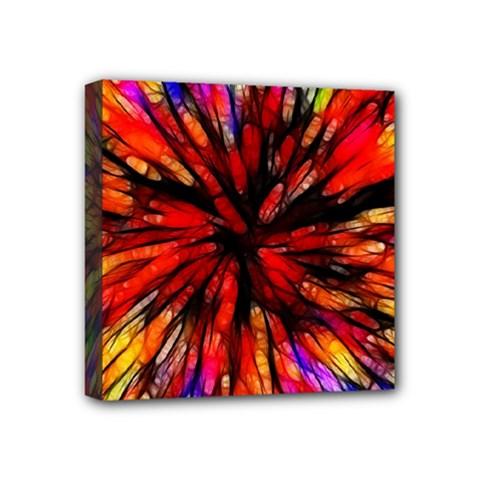 Color Batik Explosion Colorful Mini Canvas 4  X 4  by Amaryn4rt