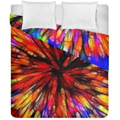 Color Batik Explosion Colorful Duvet Cover Double Side (california King Size) by Amaryn4rt