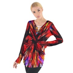 Color Batik Explosion Colorful Women s Tie Up Tee