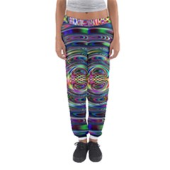 Wave Line Colorful Brush Particles Women s Jogger Sweatpants by Amaryn4rt