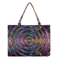 Wave Line Colorful Brush Particles Medium Tote Bag by Amaryn4rt
