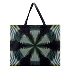 Lines Abstract Background Zipper Large Tote Bag by Amaryn4rt