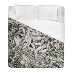 Ice Leaves Frozen Nature Duvet Cover (full/ Double Size) by Amaryn4rt