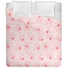 Flower Arrangements Season Pink Duvet Cover Double Side (california King Size) by Alisyart