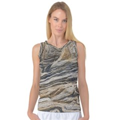Rock Texture Background Stone Women s Basketball Tank Top by Amaryn4rt