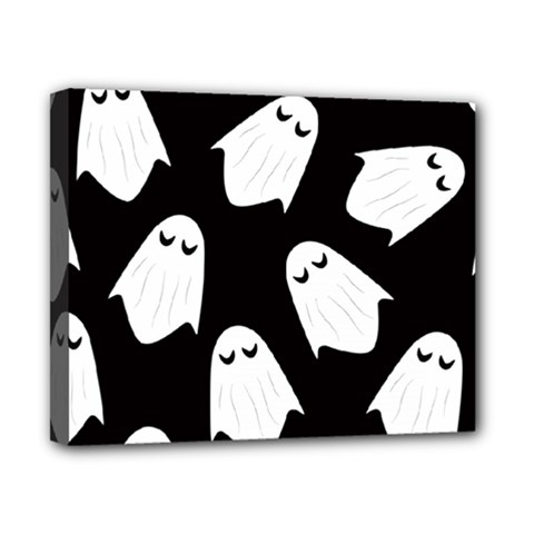 Ghost Halloween Pattern Canvas 10  X 8