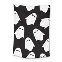 Ghost Halloween Pattern Small Tapestry by Amaryn4rt